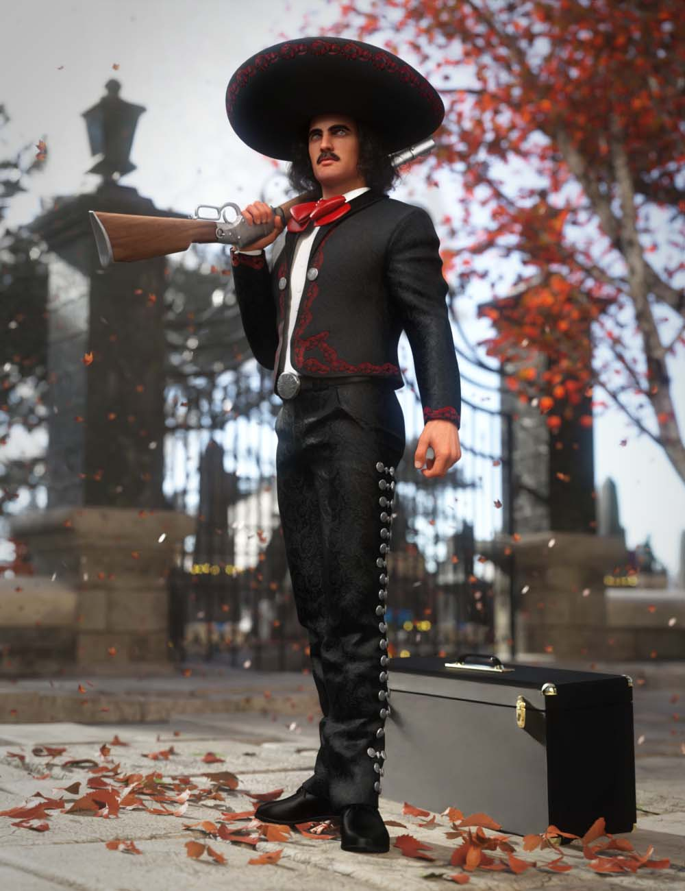 Mariachi Outfit for Genesis 8 and 8.1 Males by: MadaAnna Benjamin, 3D Models by Daz 3D