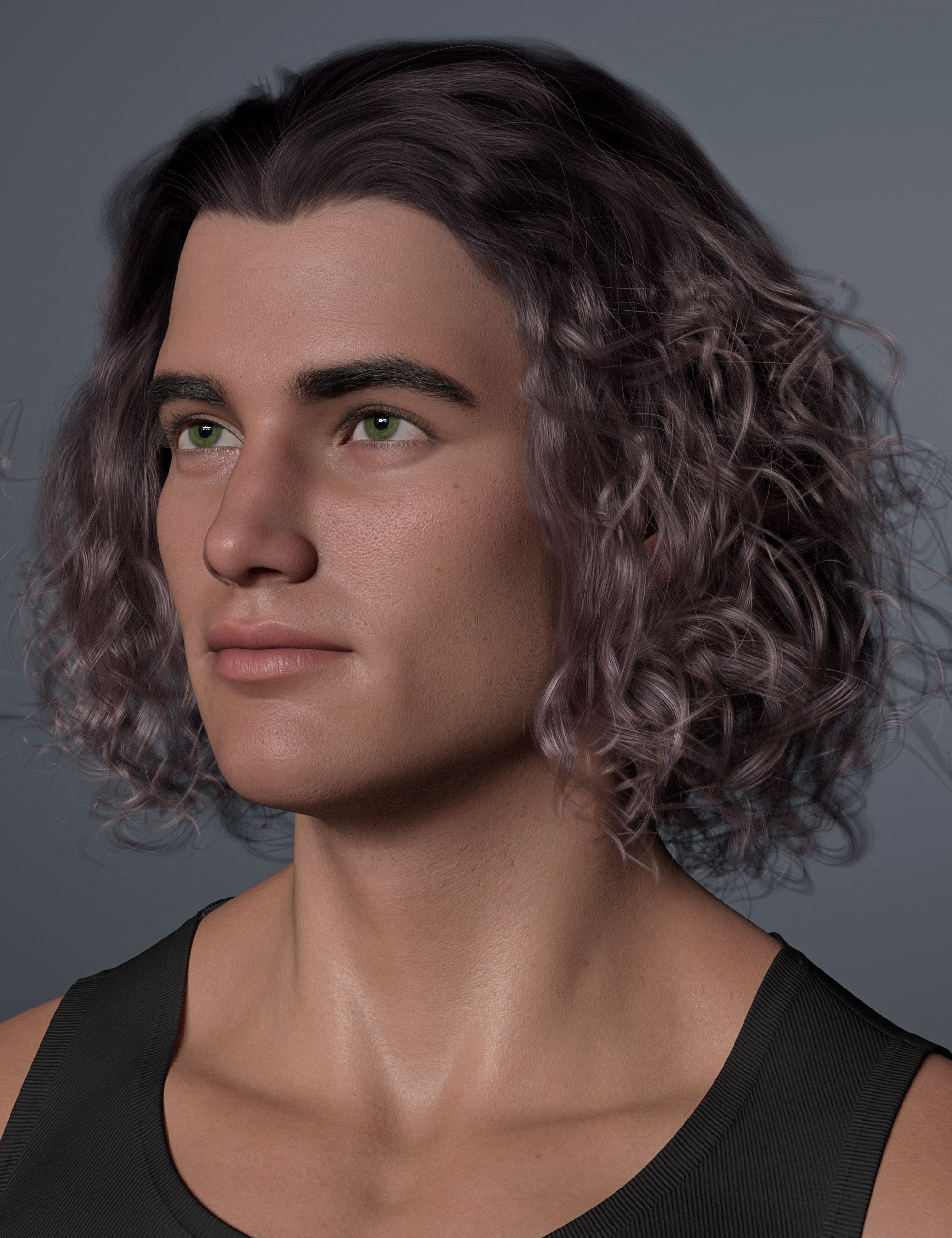 Curly Swept Style Hair Textures by: outoftouch, 3D Models by Daz 3D
