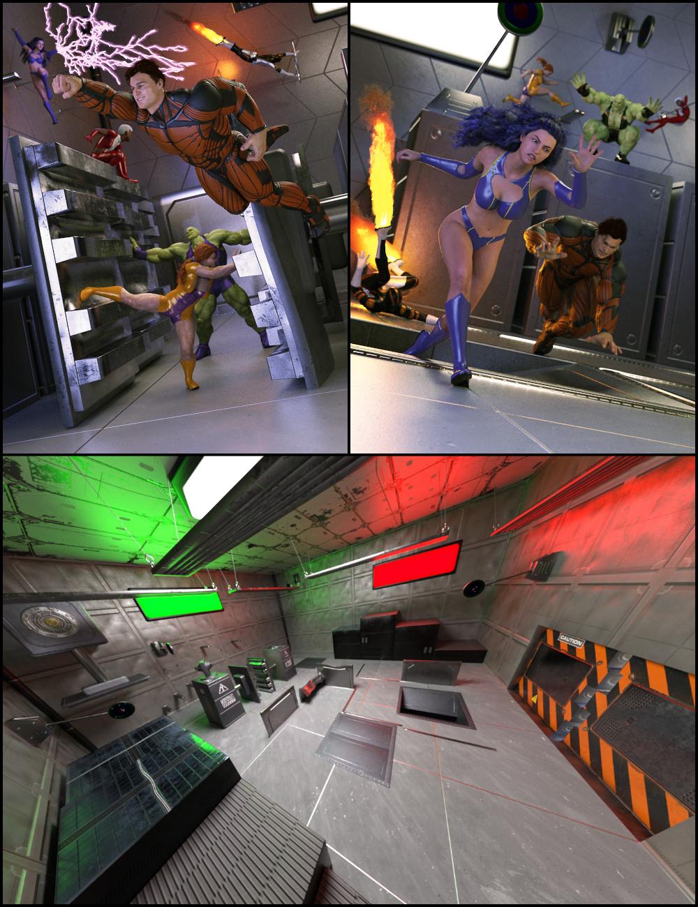 Superhero Training Bundle by: FeralFeySilent Winter, 3D Models by Daz 3D