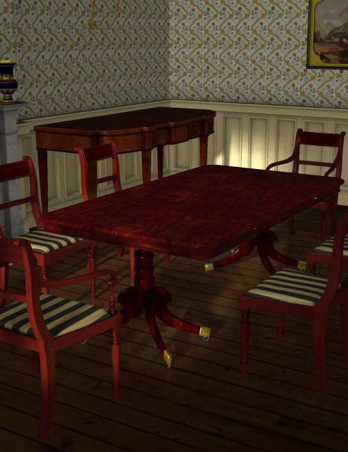 Regency Dining Furniture 3d Models And 3d Software By Daz 3d