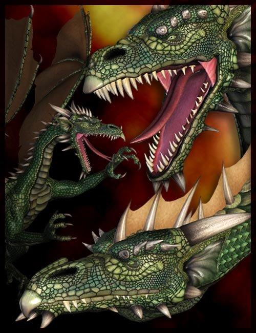Millennium Dragon by: , 3D Models by Daz 3D