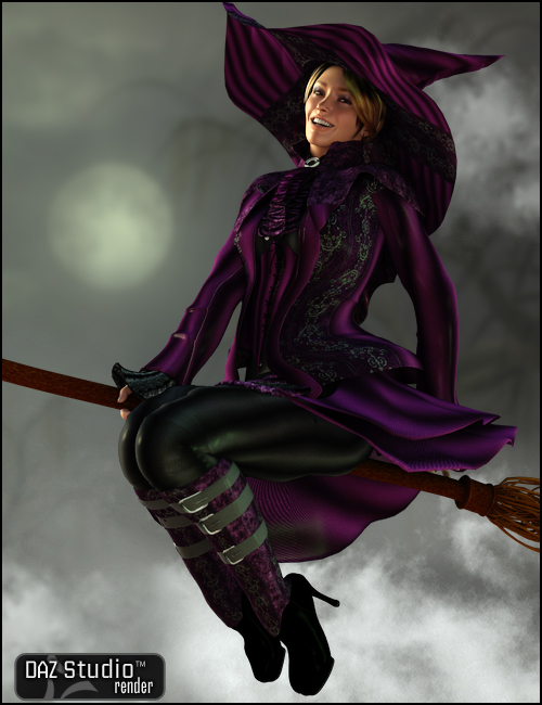 Witch Hunter for V4 by: Barbara Brundon, 3D Models by Daz 3D