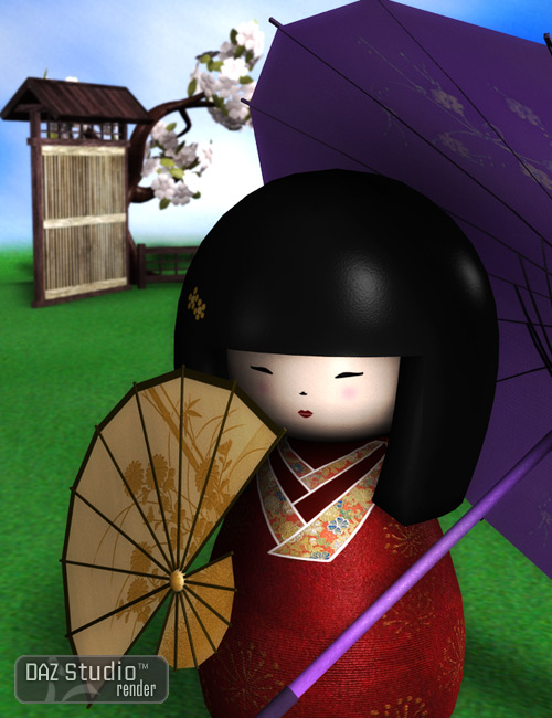 Kokeshi Sakura by: AprilYSH, 3D Models by Daz 3D