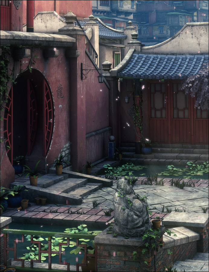 The Streets Of Asia by: Stonemason, 3D Models by Daz 3D