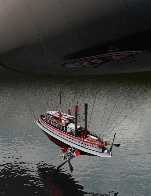 Flying Steamer by: drawbridgep, 3D Models by Daz 3D