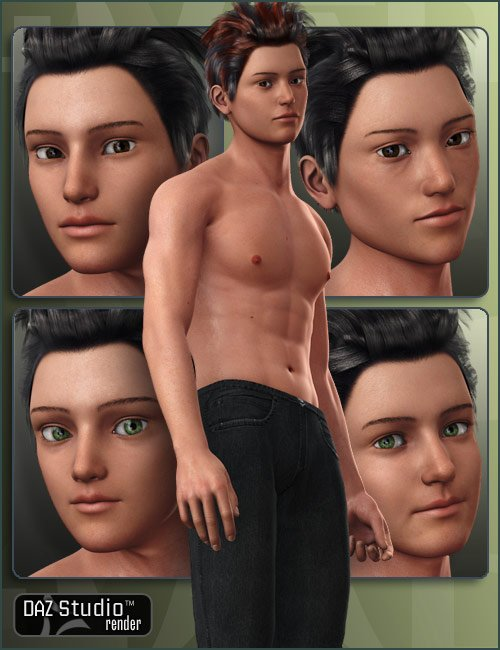 Character Expansion for Hiro 4 by: , 3D Models by Daz 3D