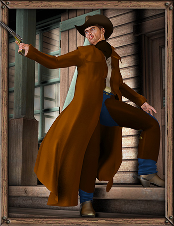 Cowboy For M4 and Hiro by: Ravenhair, 3D Models by Daz 3D