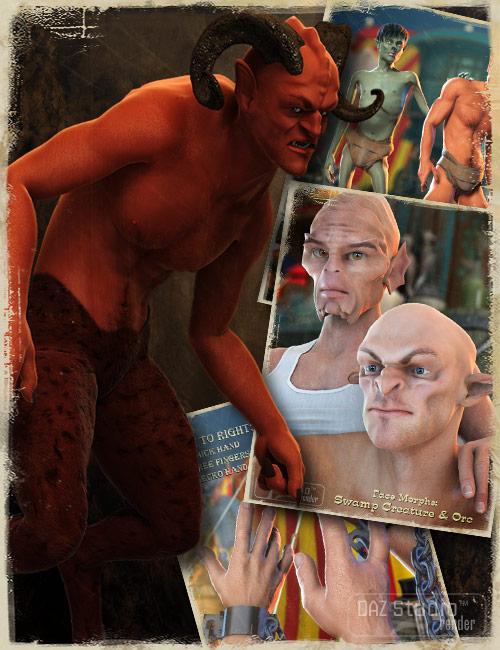Michael 4 Creature Creator Morphs by: , 3D Models by Daz 3D