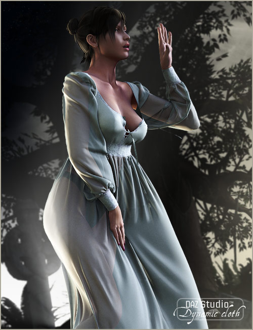 Century Nightgown by: OptiTex, 3D Models by Daz 3D