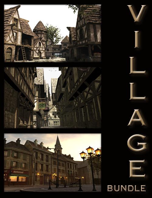 The Faveral Village Bundle by: Faveral, 3D Models by Daz 3D