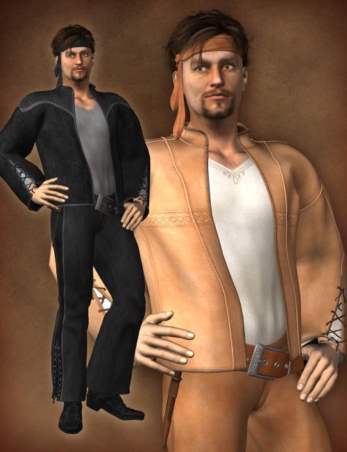 Remendado Outfit for M4 by: esha, 3D Models by Daz 3D