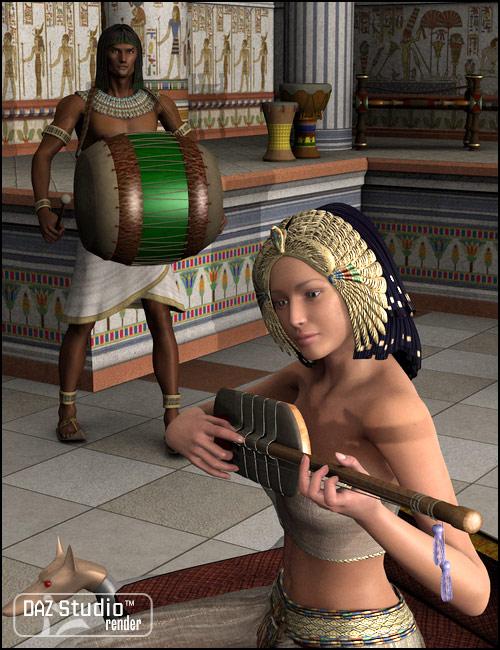 Play Like an Egyptian by: Don AlbertSimon3D, 3D Models by Daz 3D
