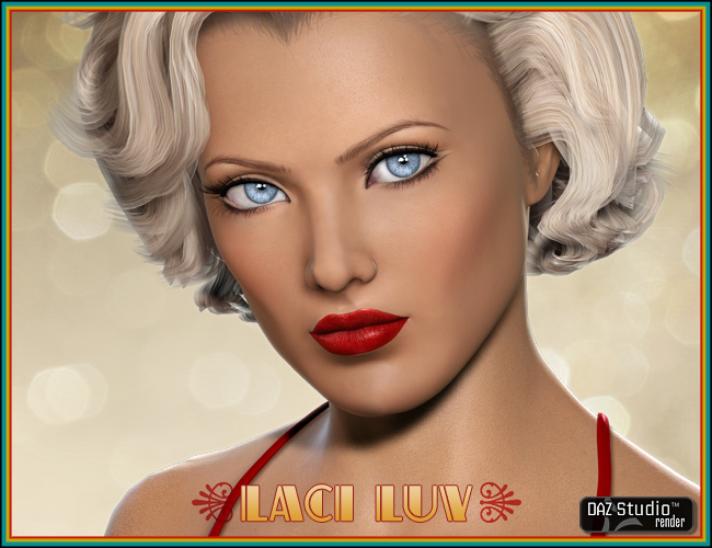 Laci Luv for V4 by: Liquid Rust, 3D Models by Daz 3D