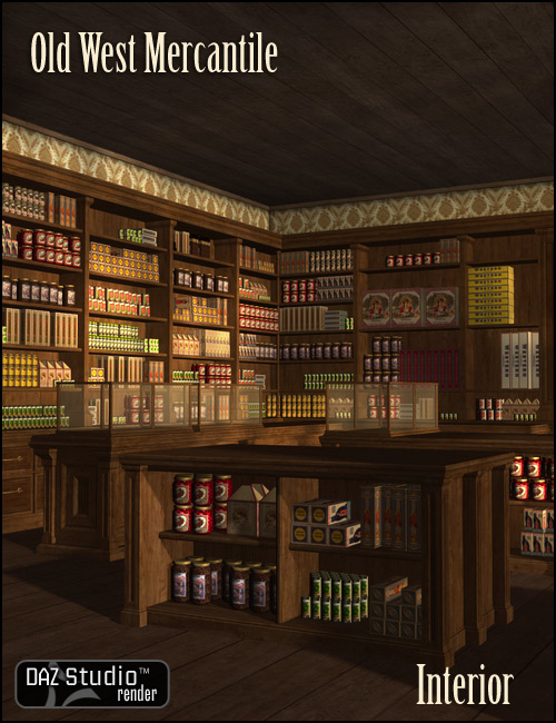 Old West Mercantile Interior by: , 3D Models by Daz 3D