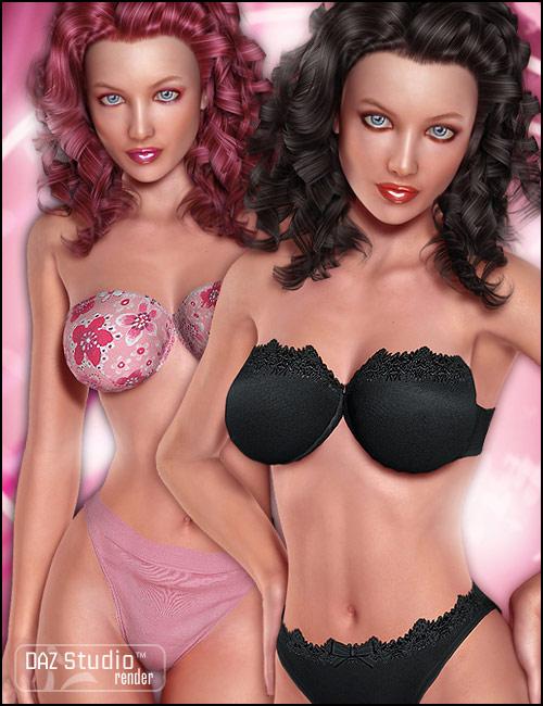 Everyday Lingerie for the V4 Bodysuit by: Morris, 3D Models by Daz 3D