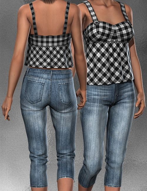 Casual Outfit For V4 A4 G4 by: idler168, 3D Models by Daz 3D
