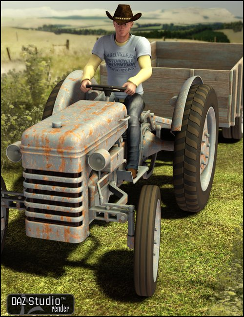 Tractor F9N by: , 3D Models by Daz 3D