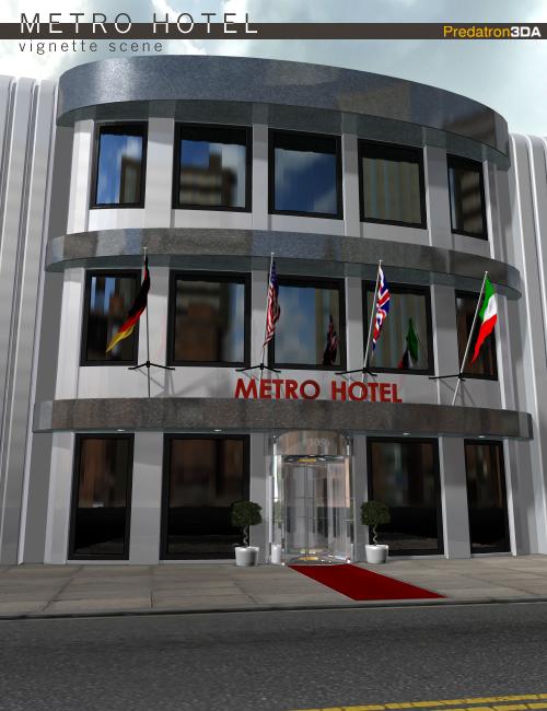 Metro Hotel Vignette by: Predatron, 3D Models by Daz 3D