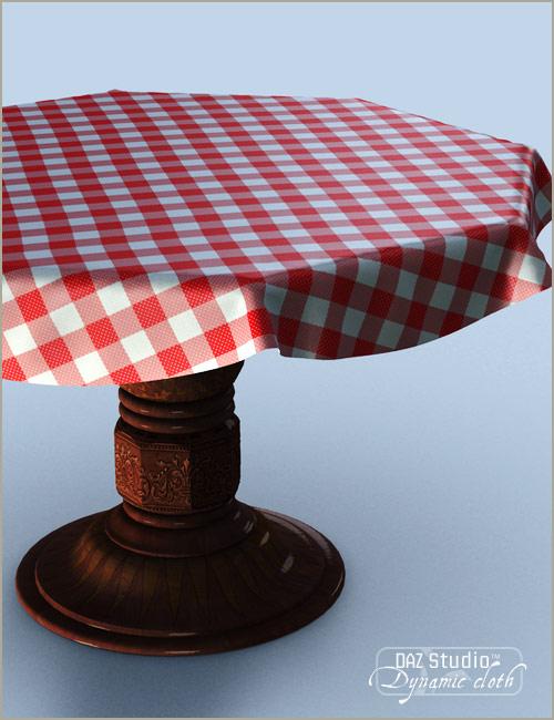 Dynamic Tablecloth by: OptiTex, 3D Models by Daz 3D