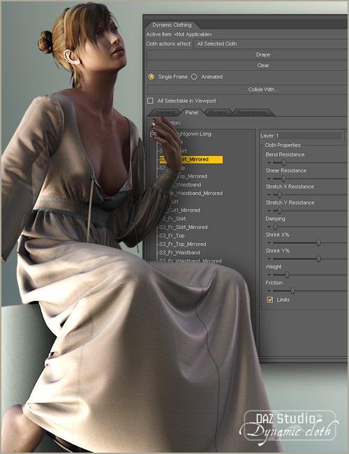 Dynamic Clothing Control by: OptiTex, 3D Models by Daz 3D