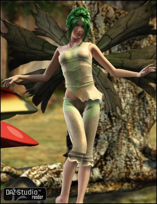 Wood Fairy V4 by: Barbara Brundon, 3D Models by Daz 3D