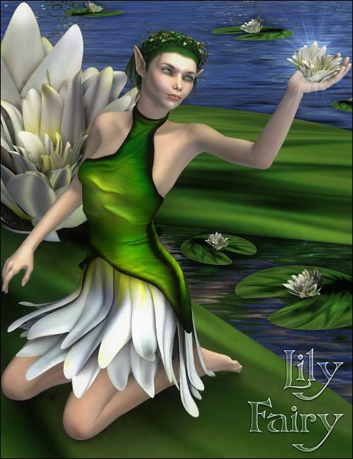 Lily Fairy V4 by: Barbara Brundon, 3D Models by Daz 3D