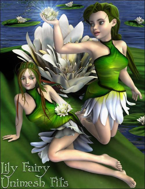 Lily Fairy Unimesh Fits by: Barbara Brundon, 3D Models by Daz 3D