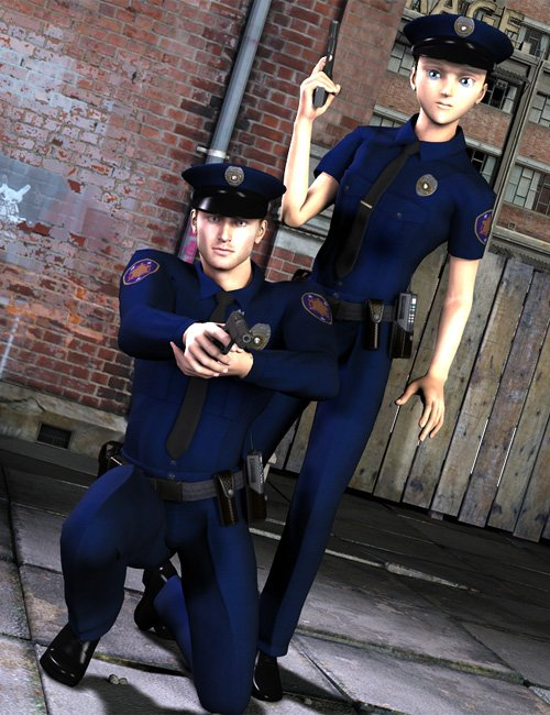 Real World Heroes  Police Officer  M4 H4 by: WillDupreMAB, 3D Models by Daz 3D