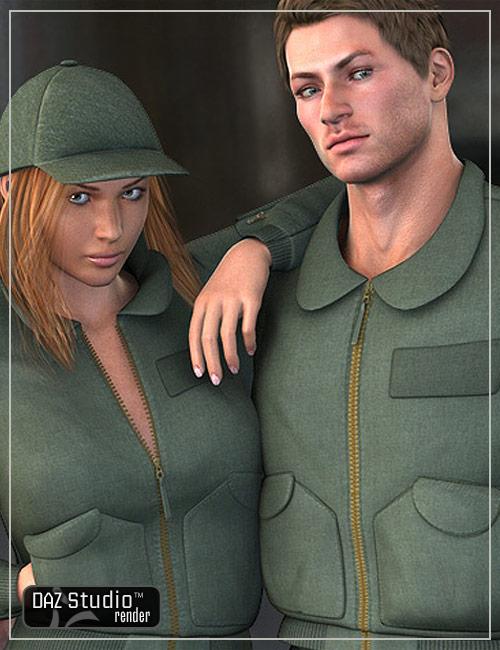 Flyer Jacket for M4 and V4 by: Lourdes, 3D Models by Daz 3D