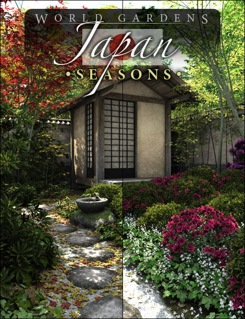 World Gardens Japan Seasons by: HowieFarkes, 3D Models by Daz 3D