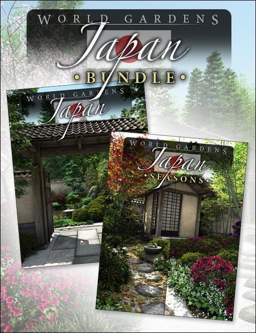 World Gardens Japan  Bundle by: HowieFarkes, 3D Models by Daz 3D