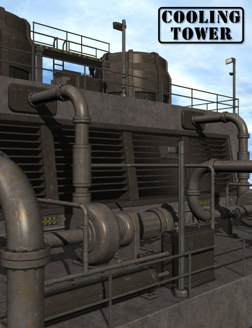 Cooling Tower by: Nightshift3D, 3D Models by Daz 3D