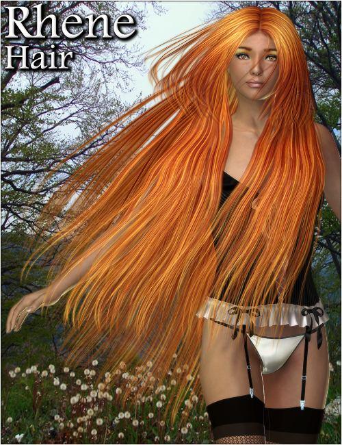 Rhene Hair by: 3DreamMairy, 3D Models by Daz 3D