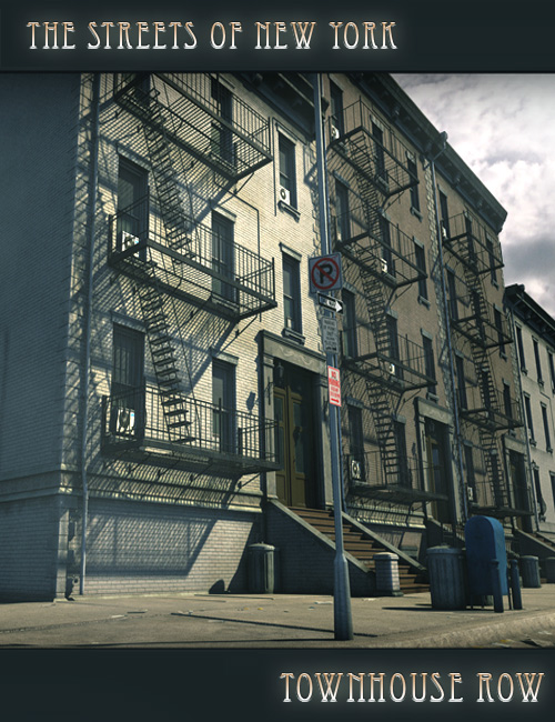The Streets Of NYC Townhouse Row by: Stonemason, 3D Models by Daz 3D