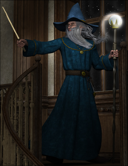 The Mage by: Ravenhair, 3D Models by Daz 3D