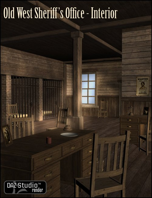 Old West Sheriffs Office Interior by: , 3D Models by Daz 3D