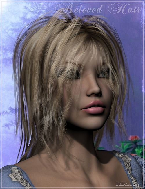 Beloved Hair by: Magix 101, 3D Models by Daz 3D