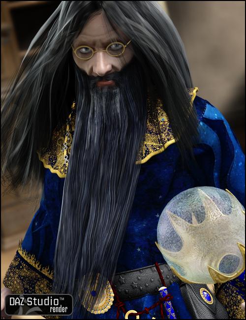 Michael 4 Long Beard by: Ravenhair, 3D Models by Daz 3D