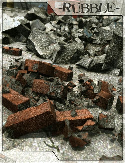 Rubble 1: Urban Ruins by: Stonemason, 3D Models by Daz 3D