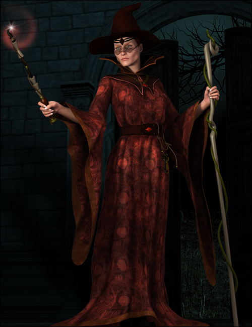 The Sorceress by: Ravenhair, 3D Models by Daz 3D