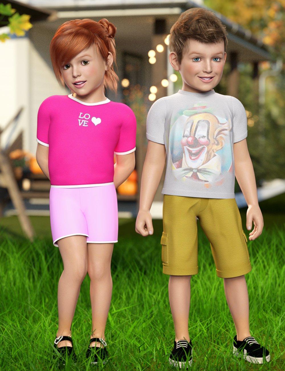 The Kids 4 Base by: joelegeckomutedbanshee, 3D Models by Daz 3D