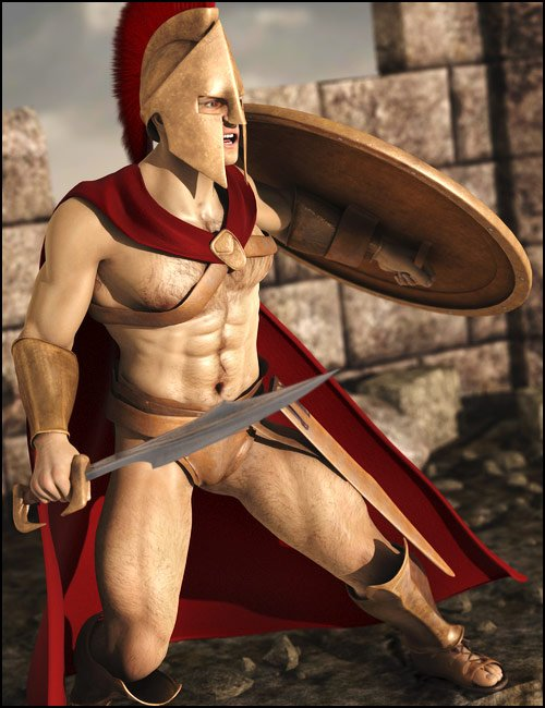 Spartan Warrior by: Lourdes, 3D Models by Daz 3D