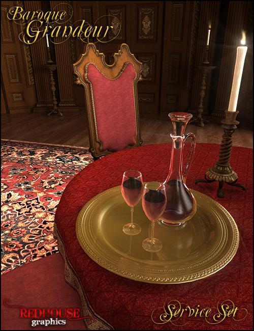 Baroque Grandeur Service Set by: , 3D Models by Daz 3D