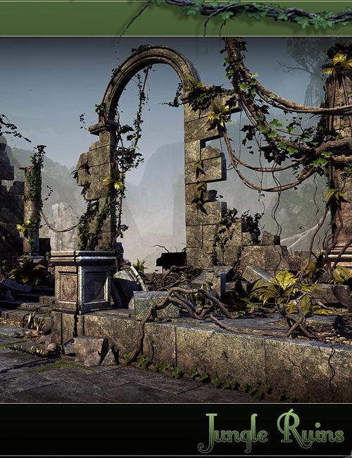 Jungle Ruins by: Stonemason, 3D Models by Daz 3D