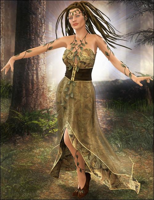 Gaia for Victoria 4 by: Ravenhair, 3D Models by Daz 3D