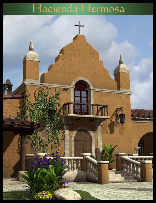Hacienda Hermosa by: Faveral, 3D Models by Daz 3D