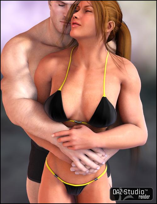 Bikini for She Freak V4 by: Barbara Brundon, 3D Models by Daz 3D