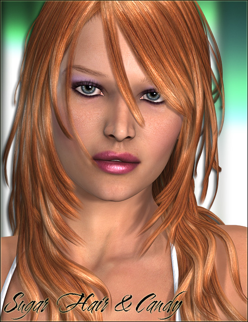 Sugar Hair and Candy by: Valea, 3D Models by Daz 3D