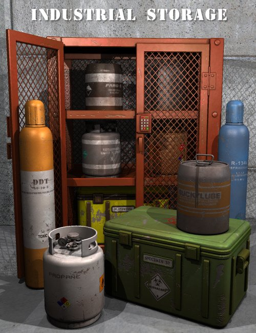 Industrial Storage by: Nightshift3D, 3D Models by Daz 3D