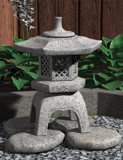 Yukimi (Stone Lantern) by: blondie9999, 3D Models by Daz 3D